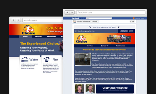 Create Brand Consistency between your Website and Facebook Page